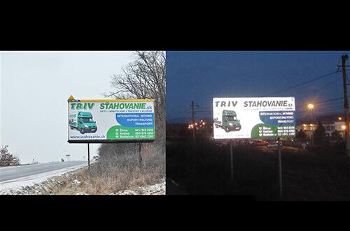 Tlač reflexný bannerov a billboardov