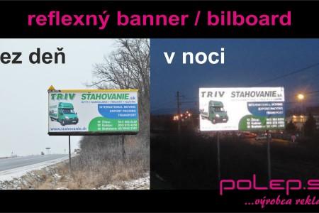 Reflexný banner a bilboard